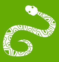 snake icon green vector image