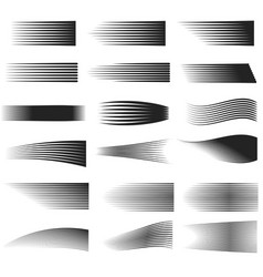 speed line set horizontal motion effect flying vector image