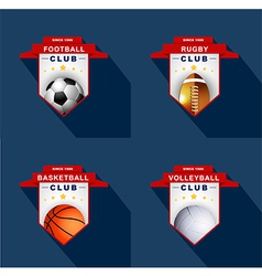 Sports labels badge emblem vector