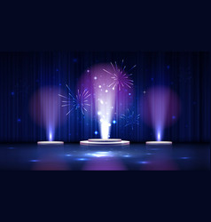 spotlight effect blue scene background vector image