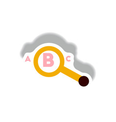 stylish icon in paper sticker style magnifying vector image
