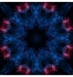 Stylized round mandala-like design on black vector