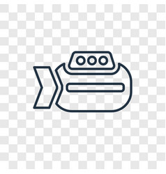 Submarine toy concept linear icon isolated on vector