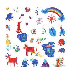 Summer color doodle2 vector