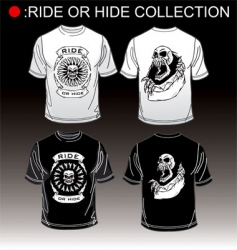 T-shirt ride or hide vector