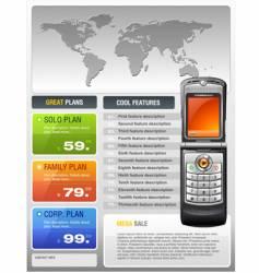 telecom provider flyer vector image vector image