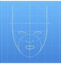 The mark of a human face vector image