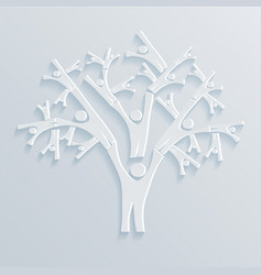 Tree of people vector