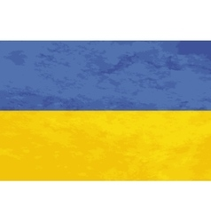 True proportions Ukraine flag with texture vector image