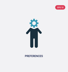 Two color preferences icon from people concept vector