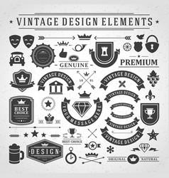 Vintage labels and badges design elements vector