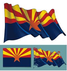waving flag state arizona vector image