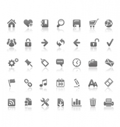 Web site and internet icons vector