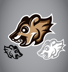 Wild Squirrel head gray logo 2902 vector image