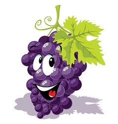Wine grape cartoon vector