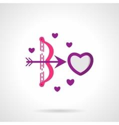 Cupids shot bright flat icon vector image vector image