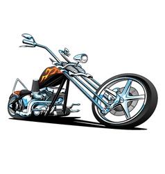 Custom American Chopper Motorcycle vector image vector image