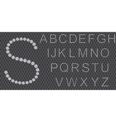 Diamond alphabet letters from a to z vector