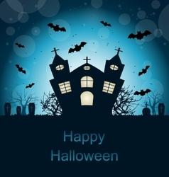 Halloween abstract greeting card vector