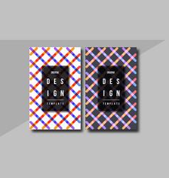 minimal cover design annual report magazine vector image