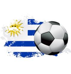 Uruguay Soccer Grunge vector image vector image