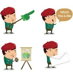 Artist Mascot 1 vector image vector image