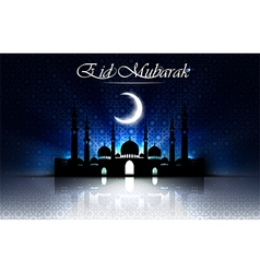 Beautiful religious eid background with mosque vector image vector image
