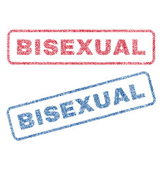 bisexual textile stamps vector image