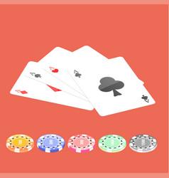 Flat poker table flat poker table isometric vector