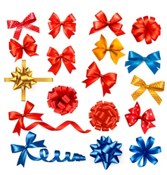gift bows with ribbons vector image vector image