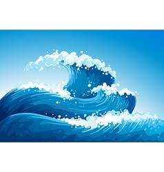 A sea with giant waves vector image vector image
