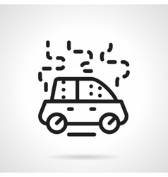 Car damage black line icon vector image vector image
