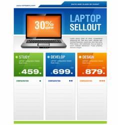 laptop sale flyer vector image vector image