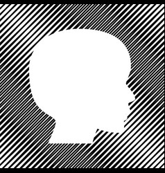 people head sign icon hole in moire vector image