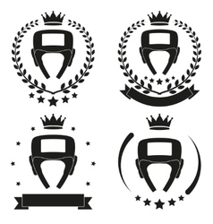 Set of Vintage Boxing Club Badge and Label vector image vector image