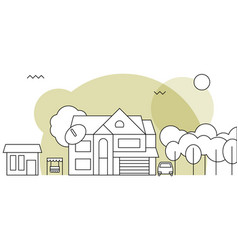 traditional family homeflat design concept vector image vector image