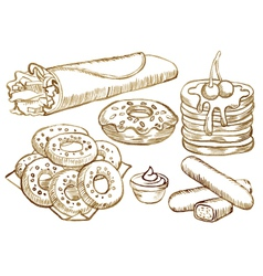 American food set vector image