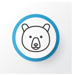bear icon symbol premium quality isolated grizzly vector image vector image