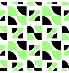 Black and green abstract pattern vector image