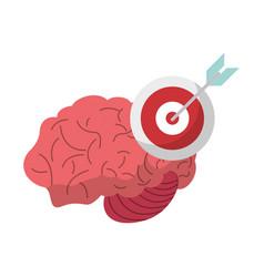 brain target creativity idea vector image