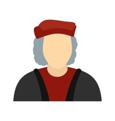 Christopher columbus costume icon vector