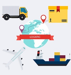 Global Logistic infographics elements flat vector image vector image