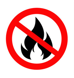 No fire sing icon vector