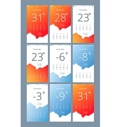 set phone interface with the weather vector image vector image