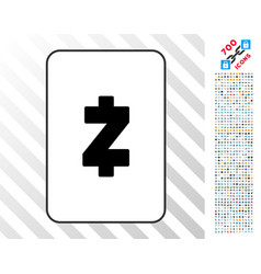 zcash card with bonus vector image vector image