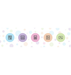 5 accounting icons vector