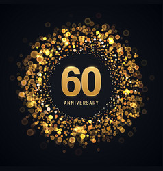 60 years anniversary isolated design vector image