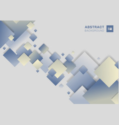 abstract blue geometric squares overlapping on vector image