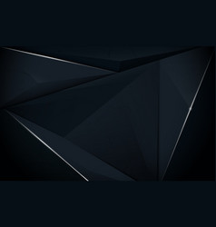 Abstract polygonal luxury dark blue background vector