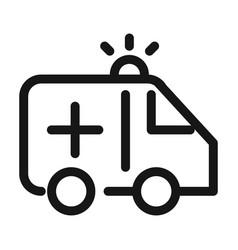 ambulance transport urgency support medical and vector image